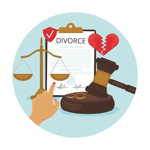 Ilustracja Koncepcja Rozwodu Darmowych Wektorów