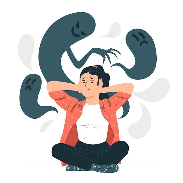 Ilustracja Koncepcja Schizofrenii Darmowych Wektorów