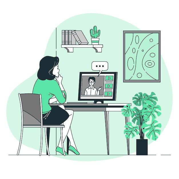 Ilustracja Koncepcja Seminarium Internetowego Darmowych Wektorów