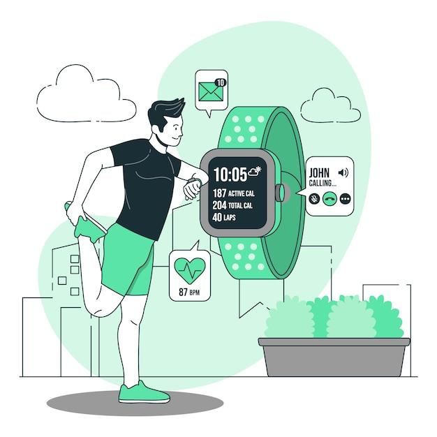 Ilustracja Koncepcja Smartwatch Darmowych Wektorów