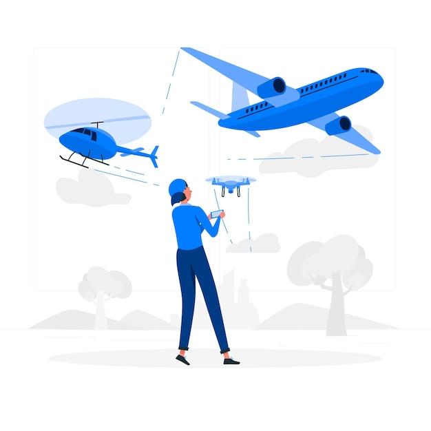 Ilustracja Koncepcja Statku Powietrznego Darmowych Wektorów