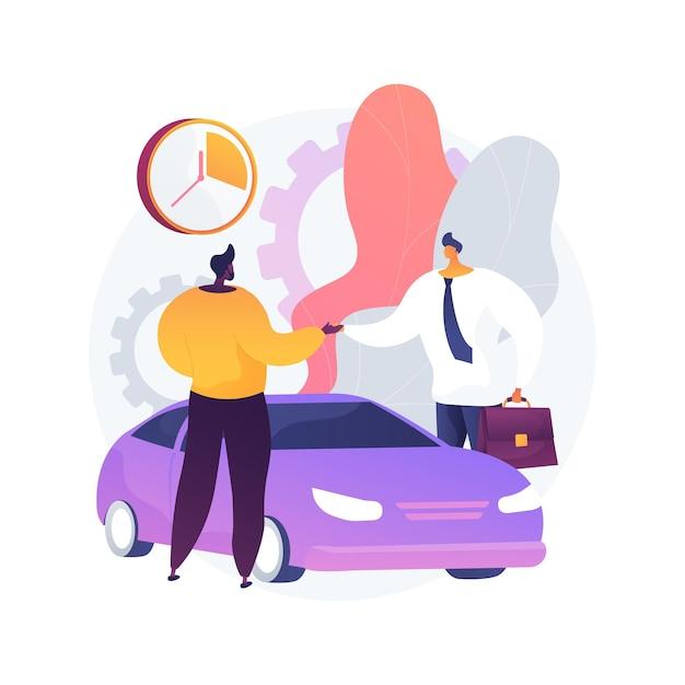 Ilustracja Koncepcja Streszczenie Usługi Carsharing Darmowych Wektorów