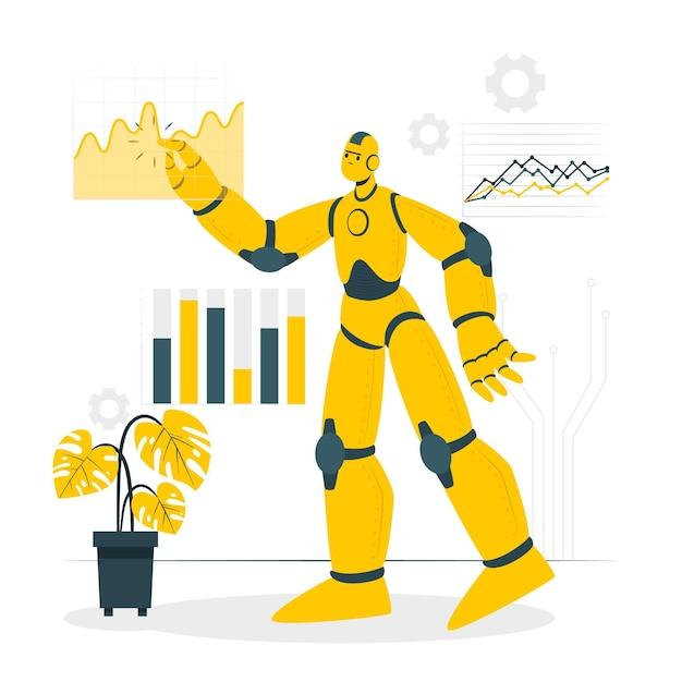 Ilustracja Koncepcja Sztucznej Inteligencji Darmowych Wektorów