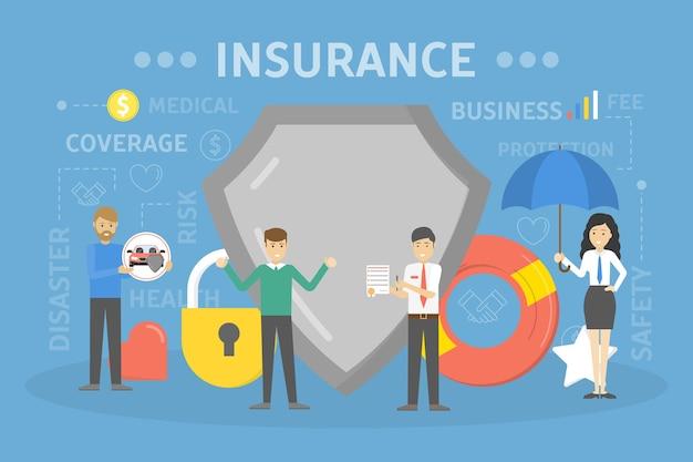 Ilustracja Koncepcja Ubezpieczenia Premium Wektorów