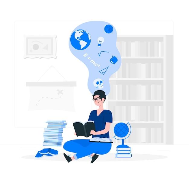 Ilustracja Koncepcja Wiedzy Darmowych Wektorów