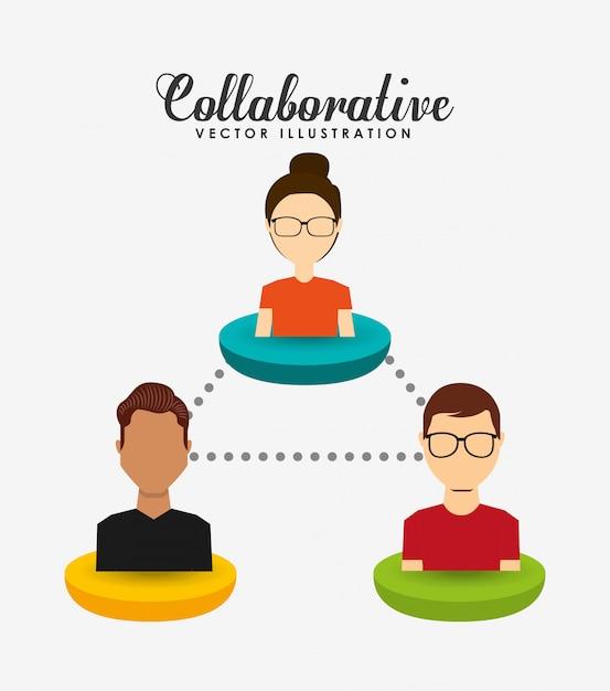 Ilustracja koncepcja współpracy Darmowych Wektorów