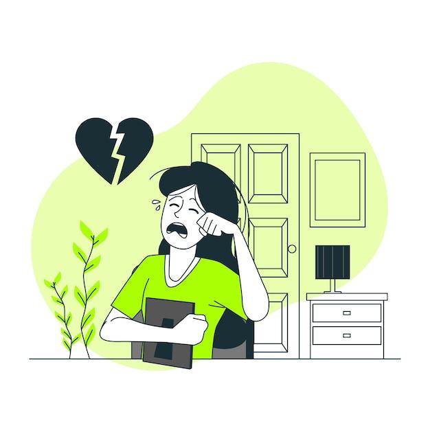 Ilustracja Koncepcja Złamane Serce Darmowych Wektorów