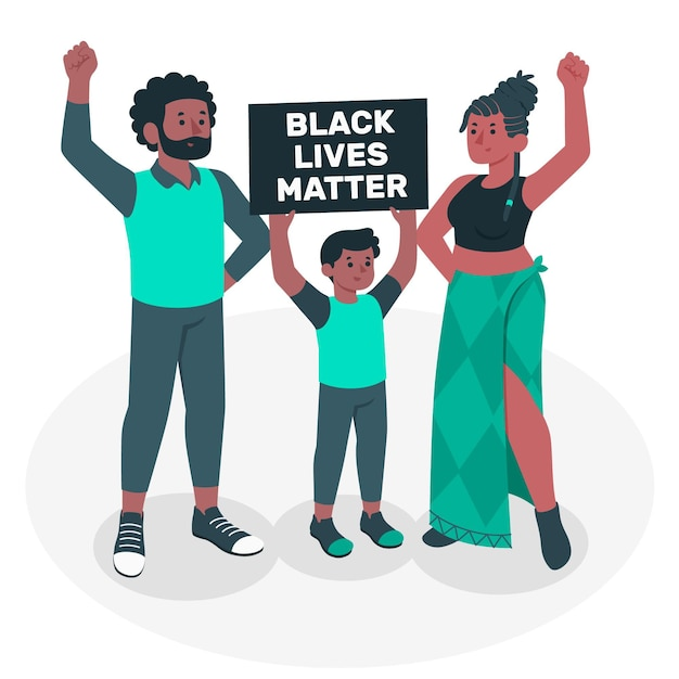 Ilustracja Koncepcja życia Czarny Liczy Się Darmowych Wektorów