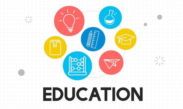 Ilustracja Koncepcji Edukacji Darmowych Wektorów