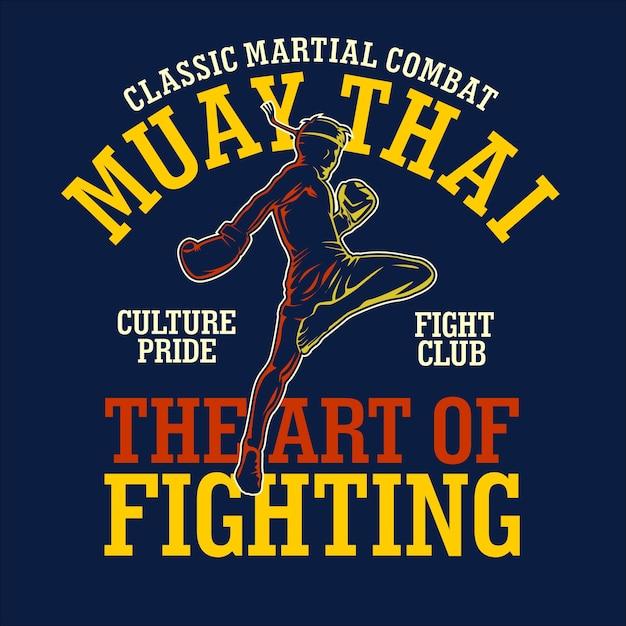 Ilustracja Koszulki Muay Thai W Płaskiej Konstrukcji Premium Wektorów