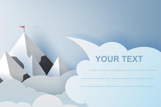 Ilustracja Krajobraz I Chmura Góry Z Copyspace Premium Wektorów