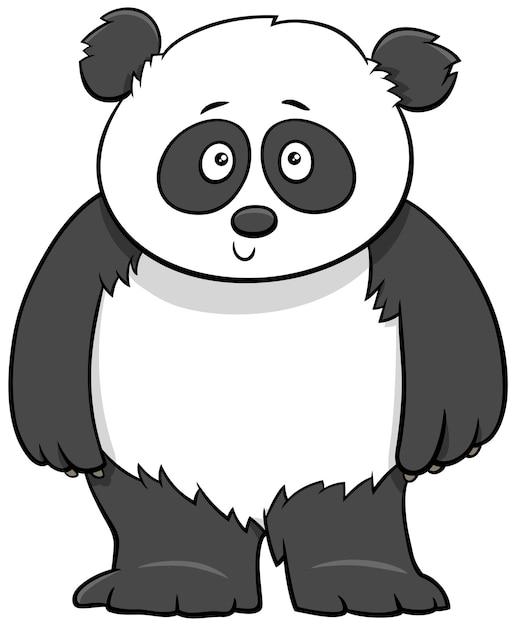 Ilustracja Kreskówka Cute Baby Panda Premium Wektorów