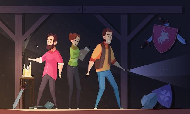 Ilustracja Kreskówka Reality Quest Darmowych Wektorów
