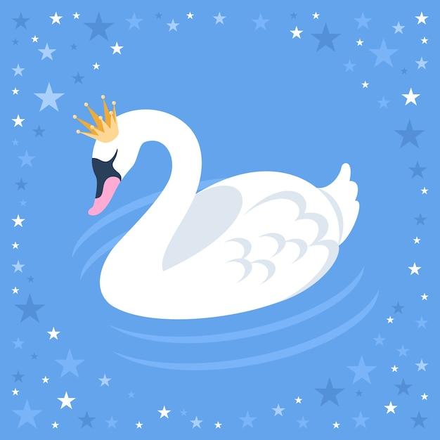 Ilustracja Księżniczka łabędź Darmowych Wektorów