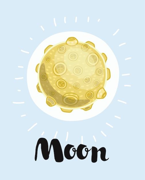 Ilustracja Księżyca, Premium Wektorów