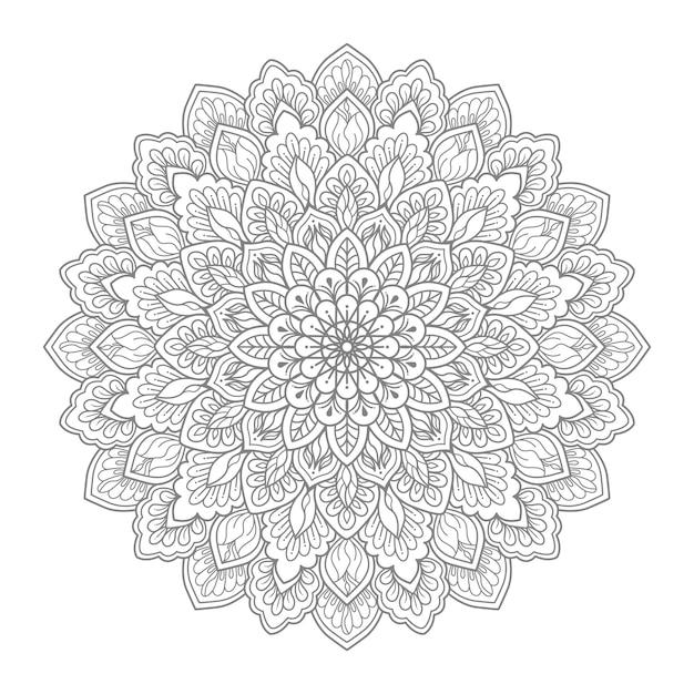 Ilustracja Kwiatowy Mandali Premium Wektorów