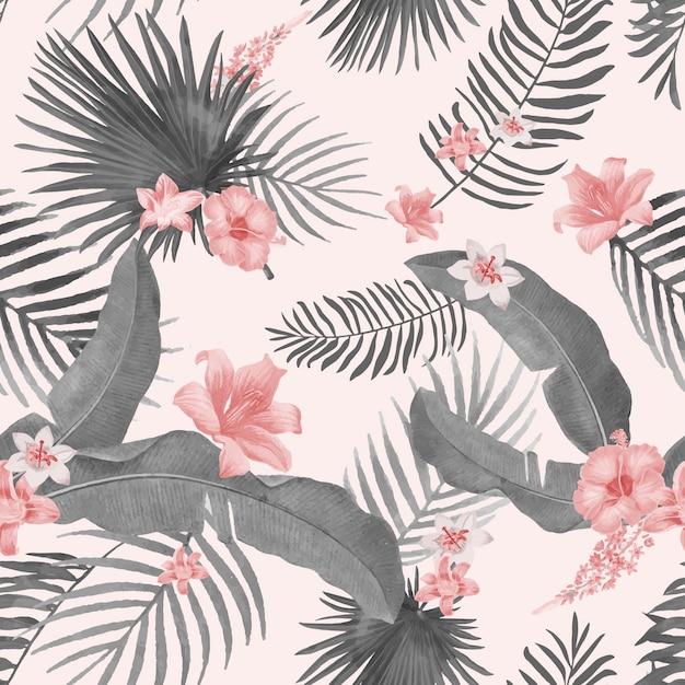 Ilustracja liści tropikalnych Darmowych Wektorów