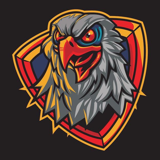 Ilustracja Logo Esport Hawk Eyes Premium Wektorów