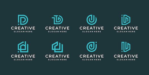 Ilustracja Logo Litery D. Premium Wektorów