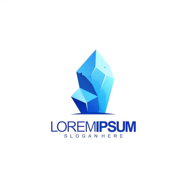Ilustracja Logo Lodu Premium Wektorów