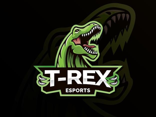 Ilustracja Logo Maskotka Sport Dinozaurów Premium Wektorów