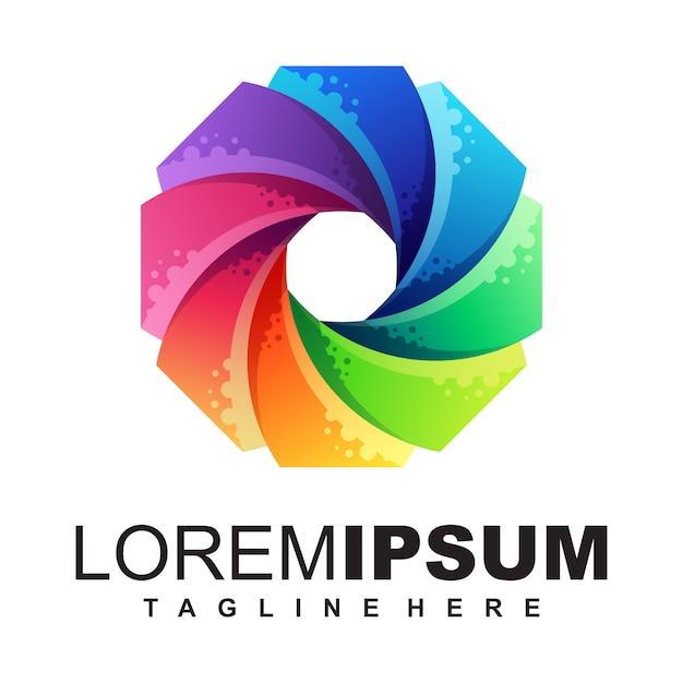 Ilustracja logo media Premium Wektorów
