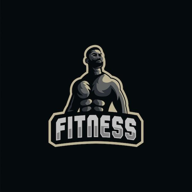Ilustracja logo mięśni Premium Wektorów