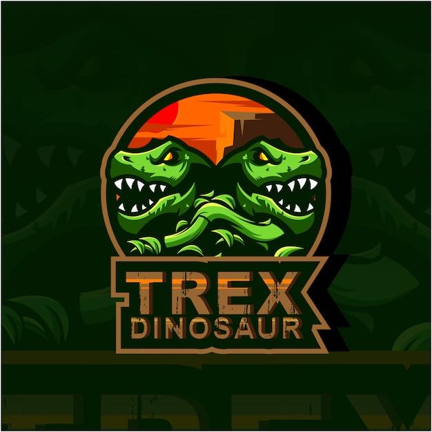 Ilustracja logo trex Premium Wektorów