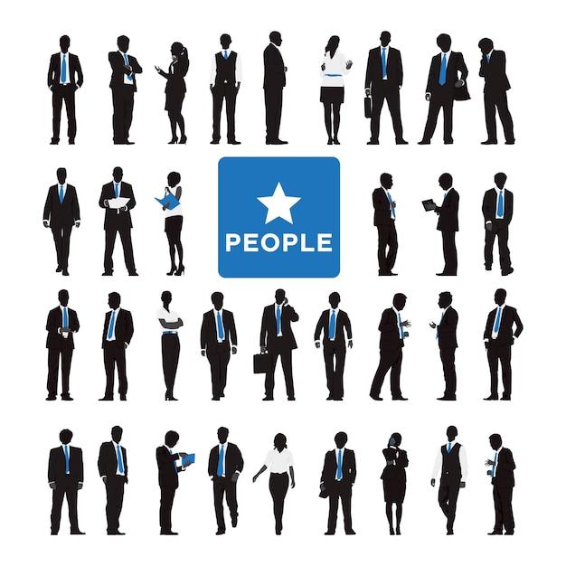 Ilustracja ludzie biznesu Darmowych Wektorów