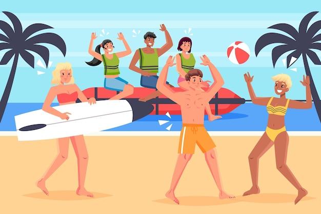 Ilustracja Ludzie Sportów Letnich Darmowych Wektorów
