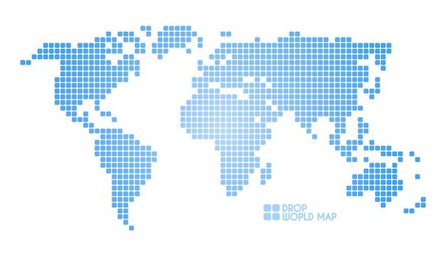 Ilustracja Mapa świata Kropki Koncepcja Premium Wektorów