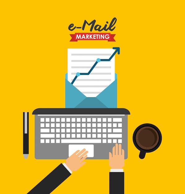 Ilustracja marketingu e-mailowego Darmowych Wektorów