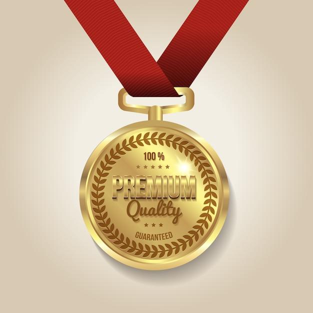 Ilustracja Medalu Gwarantowanej Jakości Darmowych Wektorów