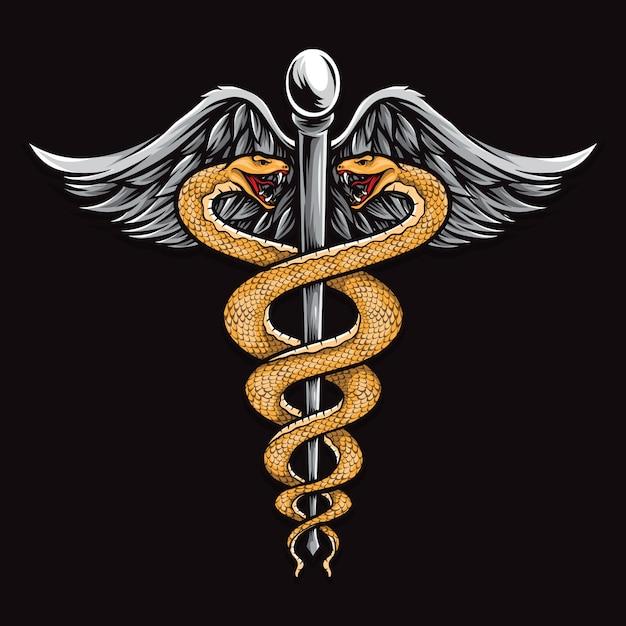 Ilustracja Medyczny Węża Premium Wektorów