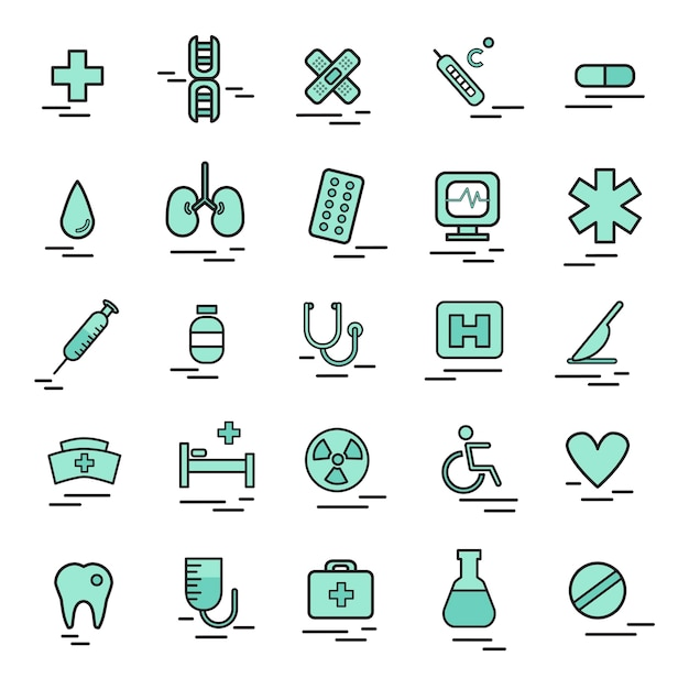 Ilustracja Medycznych Ikony Darmowych Wektorów