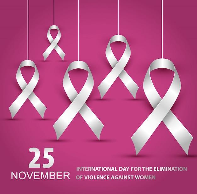 Ilustracja Międzynarodowy Dzień Na Rzecz Walki Z Przemocą Wobec Kobiet Premium Wektorów