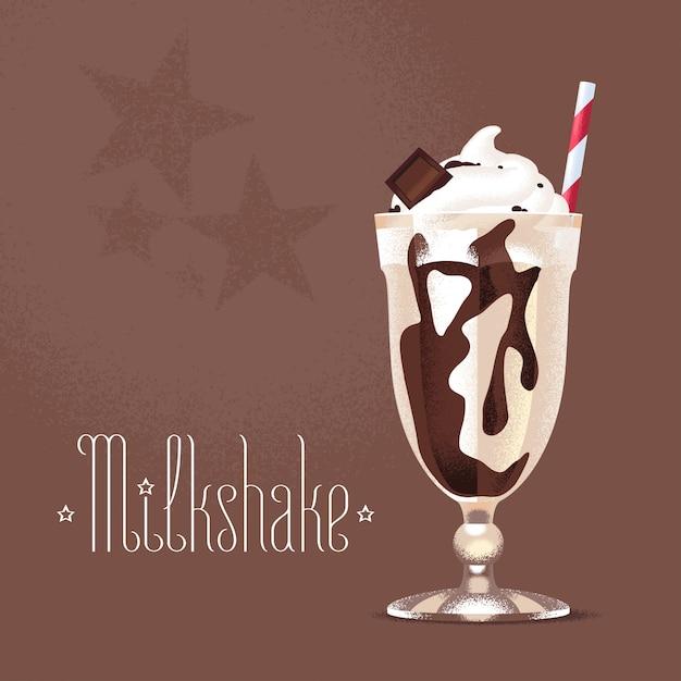 Ilustracja Milkshake, Element Projektu Premium Wektorów