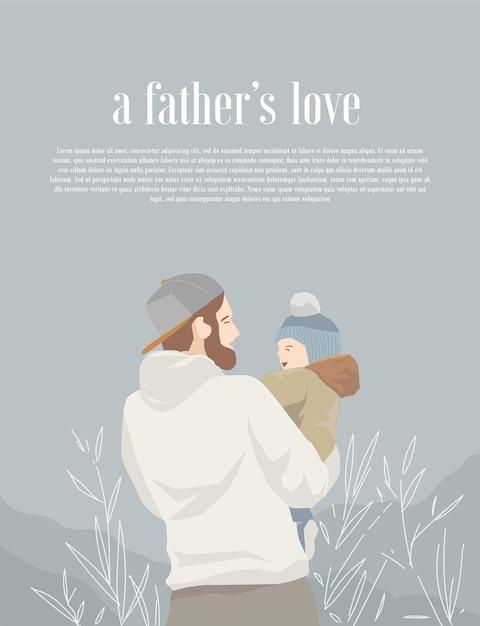 Ilustracja Miłości Ojca Premium Wektorów
