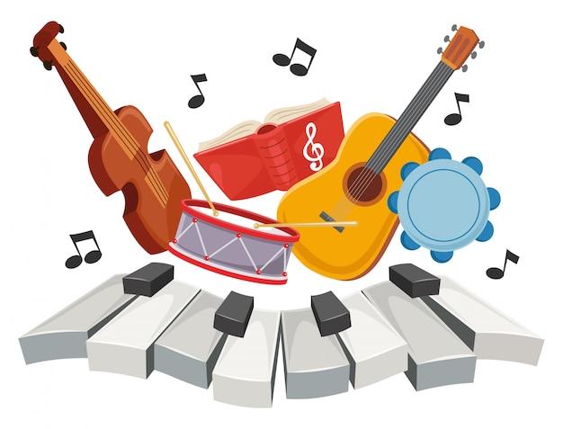Ilustracja muzyki dla dzieci Premium Wektorów