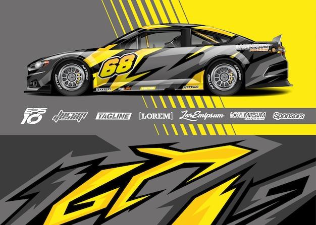 Ilustracja Naklejek Na Samochód Sportowy Premium Wektorów