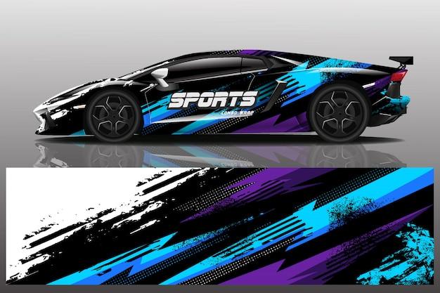 Ilustracja Naklejka Samochód Sportowy Premium Wektorów