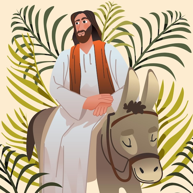 Ilustracja Niedziela Palmowa Gradientu Darmowych Wektorów