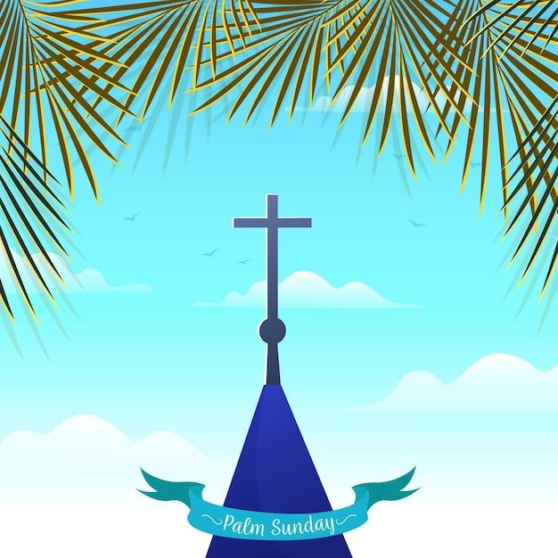 Ilustracja Niedziela Palmowa Darmowych Wektorów