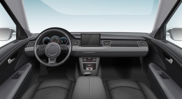Ilustracja Nowoczesnego Samochodu Wnętrza Samochodu Premium Wektorów