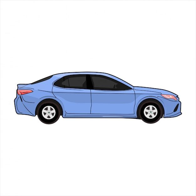 Ilustracja Nowoczesny Samochód Sedan Premium Wektorów