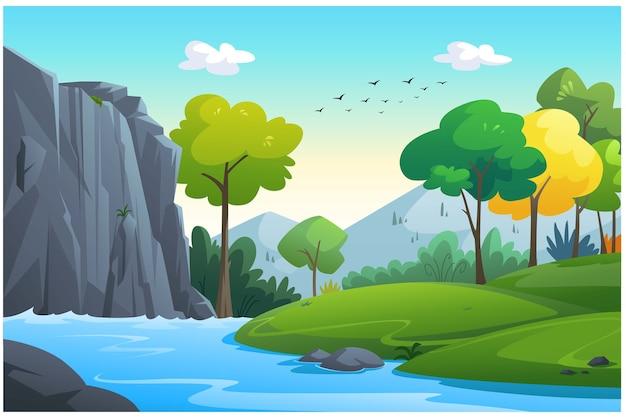Ilustracja Odkryty W Dżungli I Naturalny. Premium Wektorów