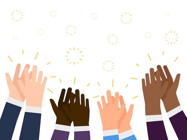 Ilustracja Oklasków. Koncepcja Ludzie Ręce Międzynarodowe Premium Wektorów