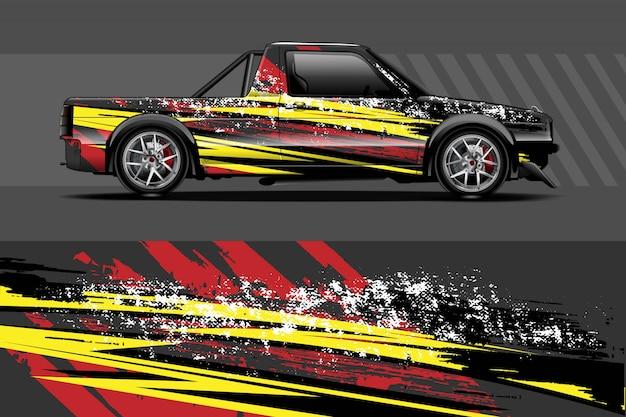 Ilustracja Owinąć Kalkomania Samochodowa Premium Wektorów