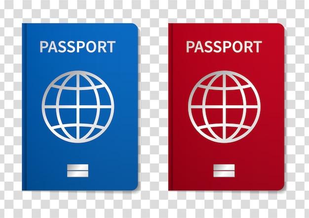 Ilustracja Paszport Międzynarodowy Na Przezroczystym Tle. Premium Wektorów