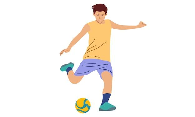 Ilustracja Piłkarz Premium Wektorów